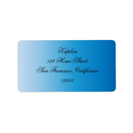 Sydney Bat Mitzvah Address Label
