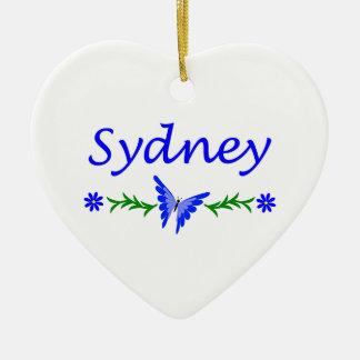 Sydney (Blue Butterfly) Christmas Ornament
