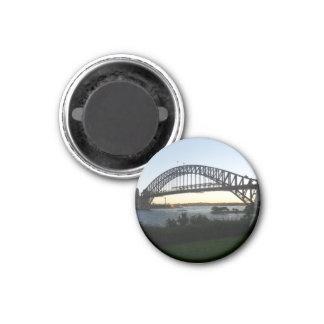 sydney bridge 3 cm round magnet