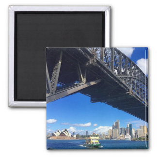 sydney bridge ferry square magnet