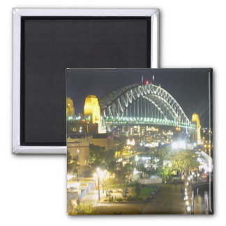 sydney bridge night magnet