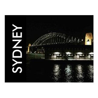 sydney bridge night postcard