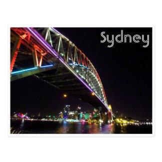 sydney bridge vivid postcard