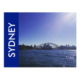 sydney bright blue postcard