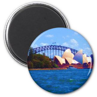 sydney bright day 6 cm round magnet