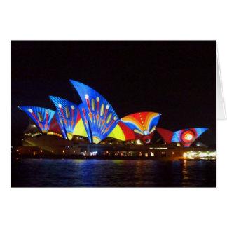 sydney bright opera house greeting card