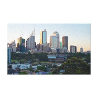 Sydney Business Center Skyscrapers Canvas Print