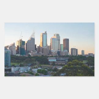 Sydney Business Center Skyscrapers Rectangular Sticker