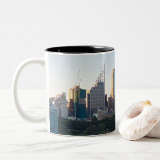 Sydney Business Center Skyscrapers Two-Tone Coffee Mug