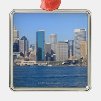 Sydney city panorama christmas ornament
