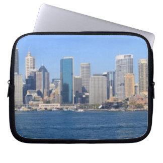 Sydney city panorama laptop sleeve