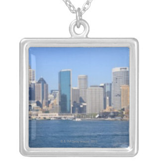 Sydney city panorama silver plated necklace