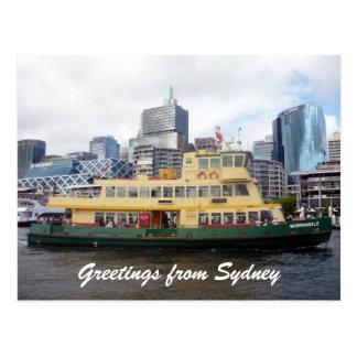 sydney ferry postcard