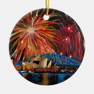 Sydney Firework at Opera House Christmas Ornament