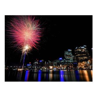 Sydney Fireworks Postcard