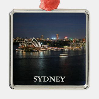 Sydney Harbor at Circular Quay Christmas Ornament