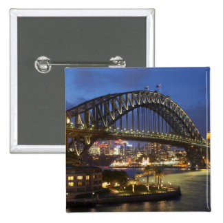 Sydney Harbor Bridge and Park Hyatt Sydney Hotel 15 Cm Square Badge