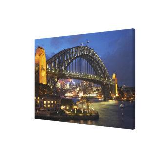 Sydney Harbor Bridge and Park Hyatt Sydney Hotel Canvas Print