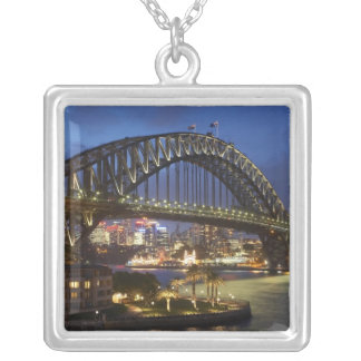 Sydney Harbor Bridge and Park Hyatt Sydney Hotel Silver Plated Necklace