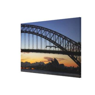 Sydney Harbor Bridge and Sydney Opera House at 2 Canvas Print
