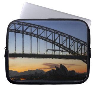 Sydney Harbor Bridge and Sydney Opera House at 2 Laptop Sleeve