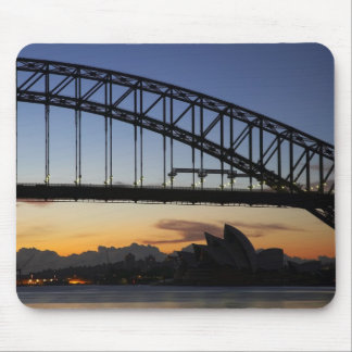 Sydney Harbor Bridge and Sydney Opera House at 2 Mouse Pad