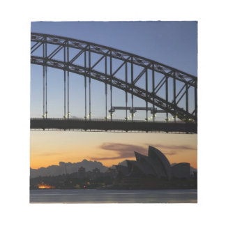 Sydney Harbor Bridge and Sydney Opera House at 2 Notepad