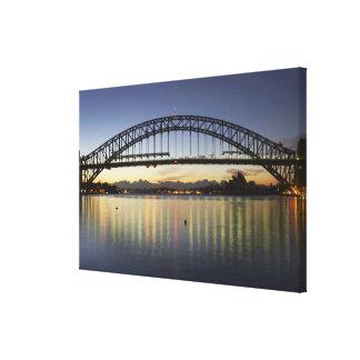 Sydney Harbor Bridge and Sydney Opera House at Canvas Print