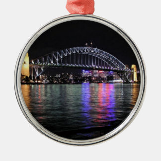 Sydney Harbor Bridge at Night Christmas Ornament