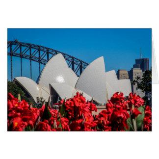 Sydney Harbor on a beautiful Spring morning Card
