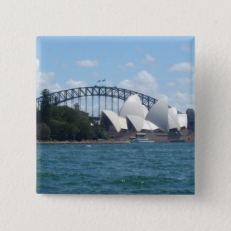 sydney harbour 15 cm square badge
