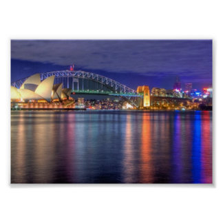 Sydney Harbour at night Poster
