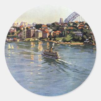 Sydney Harbour Australia Classic Round Sticker
