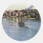 Sydney Harbour Australia Round Sticker