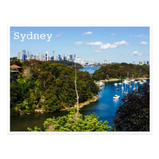 sydney harbour bays postcard