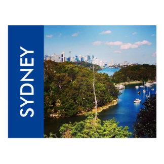 sydney harbour blues postcard