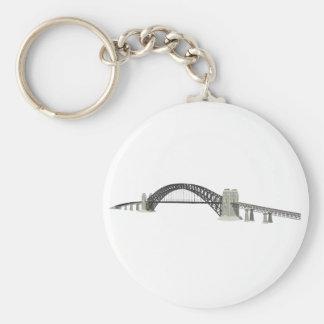 Sydney Harbour Bridge: 3D Model: Basic Round Button Key Ring