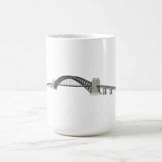 Sydney Harbour Bridge: 3D Model: Basic White Mug