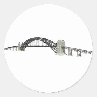 Sydney Harbour Bridge: 3D Model: Classic Round Sticker