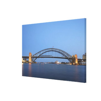Sydney Harbour Bridge and Opera House at dusk Canvas Print