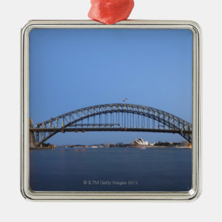 Sydney Harbour Bridge and Opera House at dusk Christmas Ornament