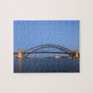Sydney Harbour Bridge and Opera House at dusk Jigsaw Puzzle