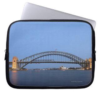Sydney Harbour Bridge and Opera House at dusk Laptop Sleeve