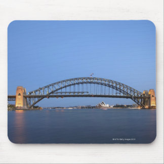 Sydney Harbour Bridge and Opera House at dusk Mouse Pad