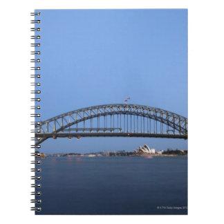Sydney Harbour Bridge and Opera House at dusk Notebooks