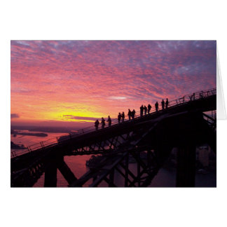 Sydney Harbour Bridge at Sunset Greeting Card