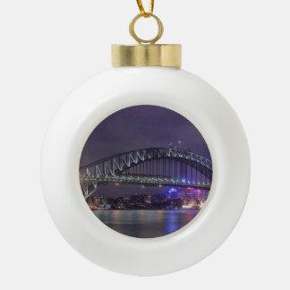 Sydney Harbour Bridge Austrailia Ceramic Ball Christmas Ornament