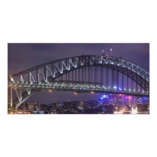 Sydney Harbour Bridge Austrailia Photo Card Template
