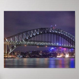 Sydney Harbour Bridge Austrailia Poster