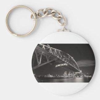 Sydney Harbour Bridge Basic Round Button Key Ring